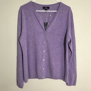 Lands' End 100% Cashmere cardigan size Lg